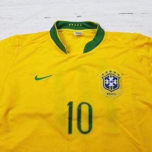 Vintage Yellow Ronaldinho soccer Brazil shirt